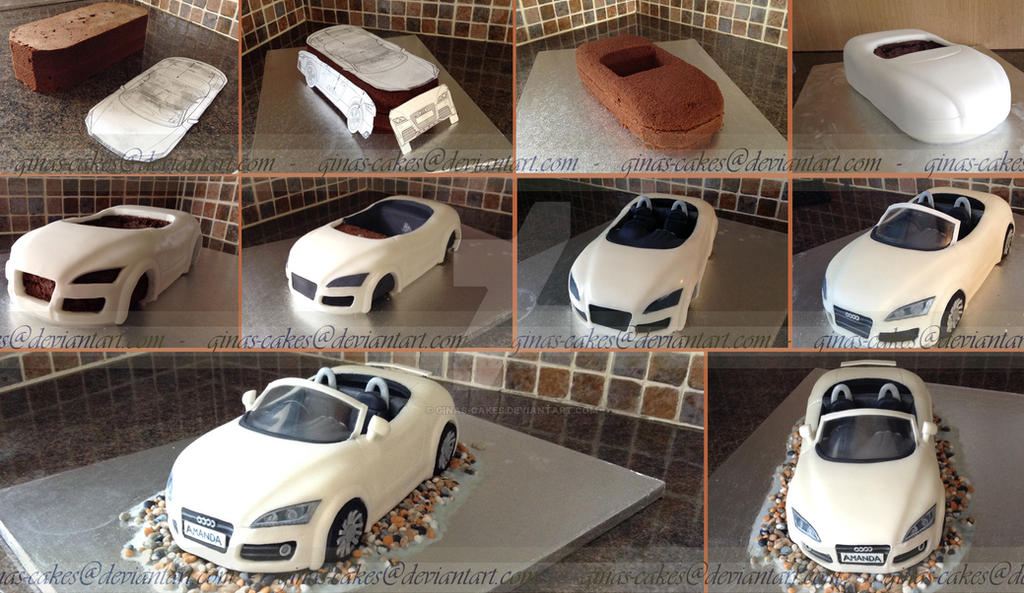 Audi Convertable stages by ginas-cakes