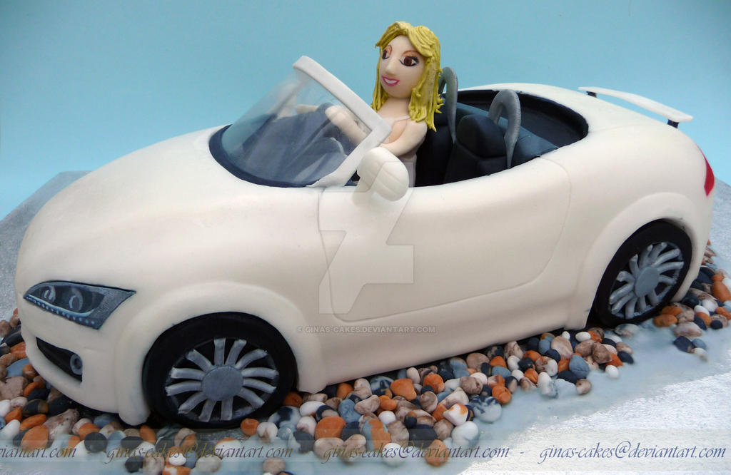 Audi Convertable Cake: side view by ginas-cakes