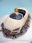 Audi Convertable Cake: front view