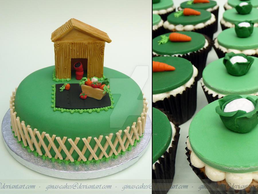 Gardening Cake by ginas-cakes