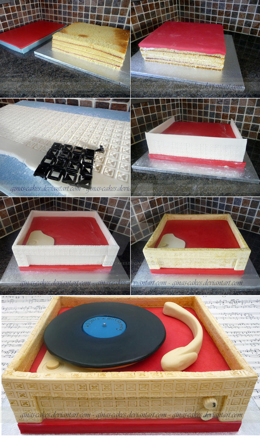retro record player stages by ginas cakes on deviantart