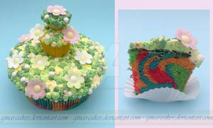 Tripple Cupcake Cake