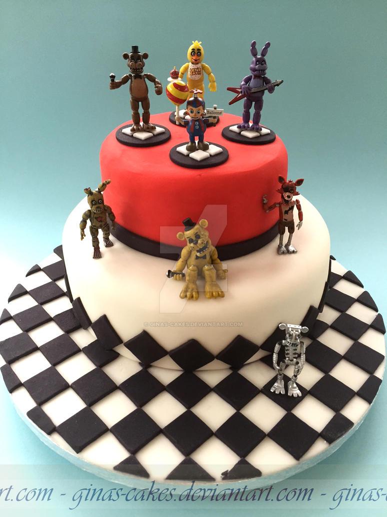 5 Nights at Freddies Cake by ginas-cakes
