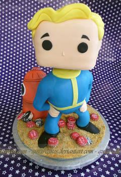 Vault Boy Pop Cake