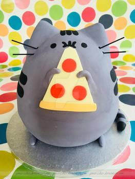 Pizza Cat Cake