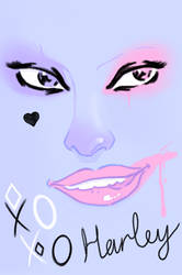 Bubblegum pop art Harley