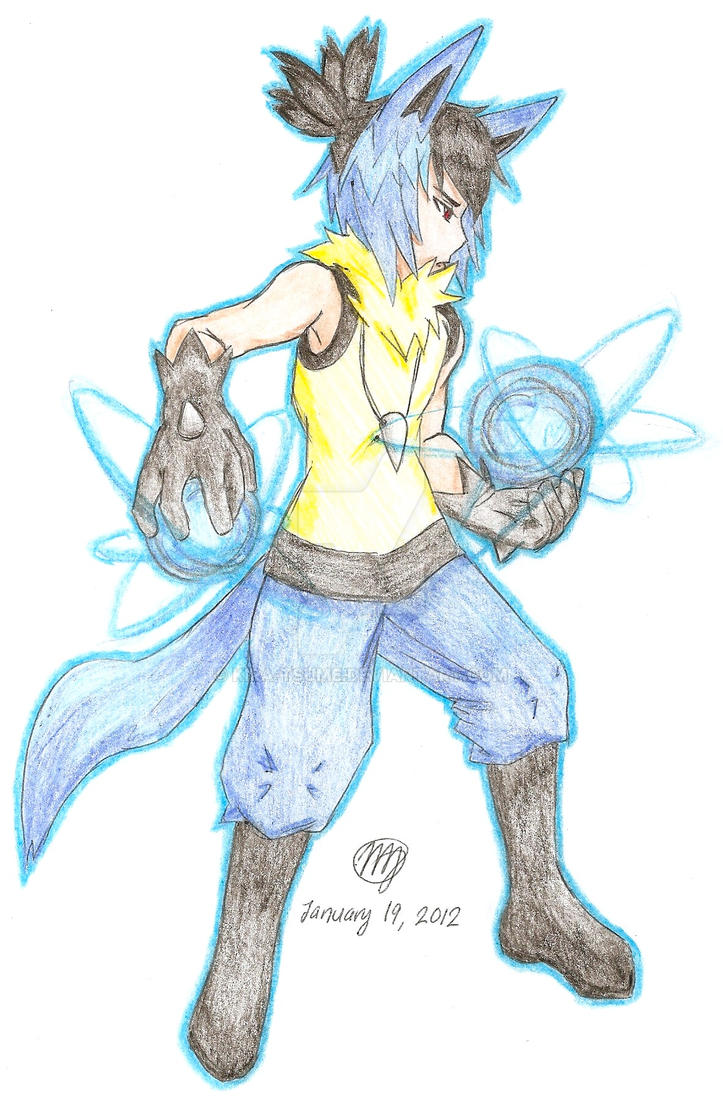 Gijinka - Lucario by Kira-Tsume on DeviantArt