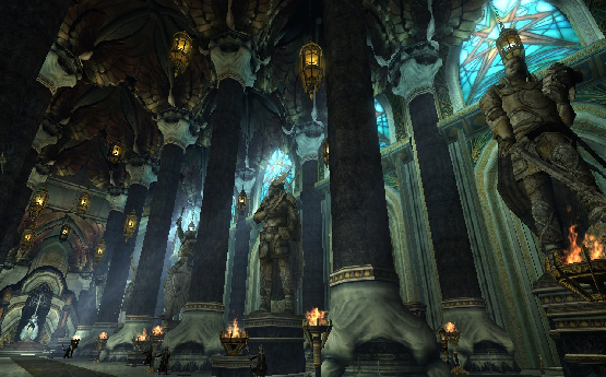 The throne room, Minas Tirith by WorldOfMiddle-earth