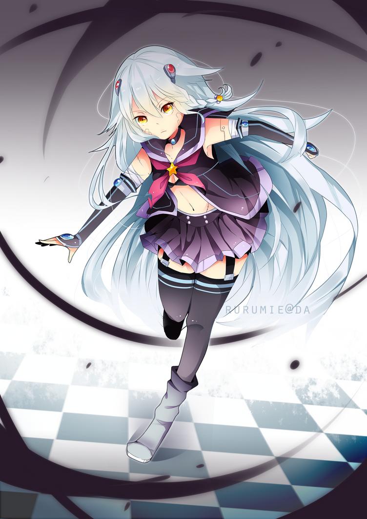 Half robot anime girl gallery - Anime girl with weapon ...
