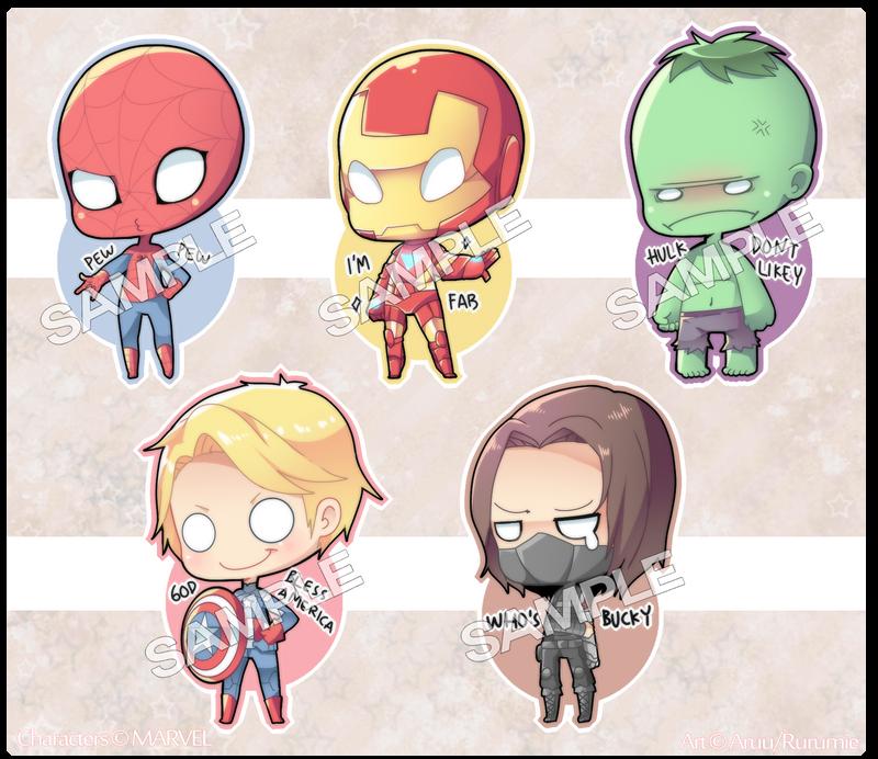 Cheeb!Marvel Charms ! by Aruella
