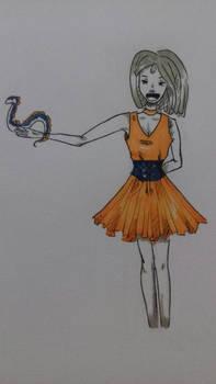 dresseuse de dragon ( en 3 couleur )---canvas tuto