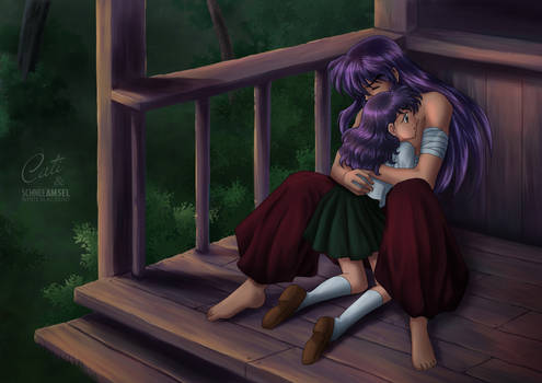 Inuyasha and Kagome - Collaboration with Cati