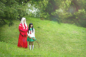 Stay Together - Inuyasha and Kagome Cosplay by SchneeAmsel