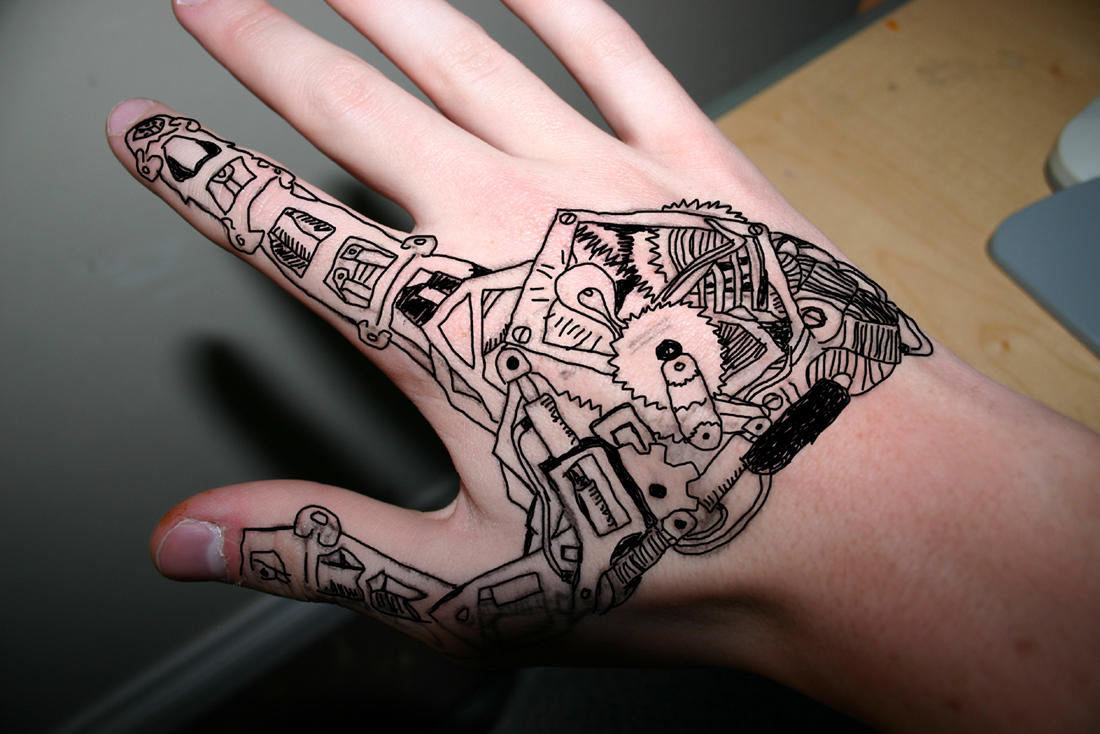 Mechanical hand art - photo#8
