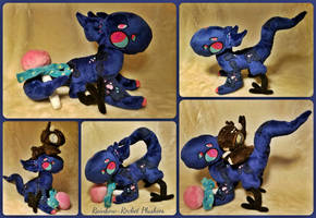 Aireth Moirai the Hybrid Posable NebNom Plush by The-Plushatiers