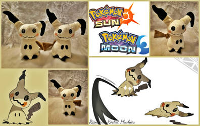 Mimikyu Pokemon Flat Sale Plush (On Sale-Etsy) by The-Plushatiers
