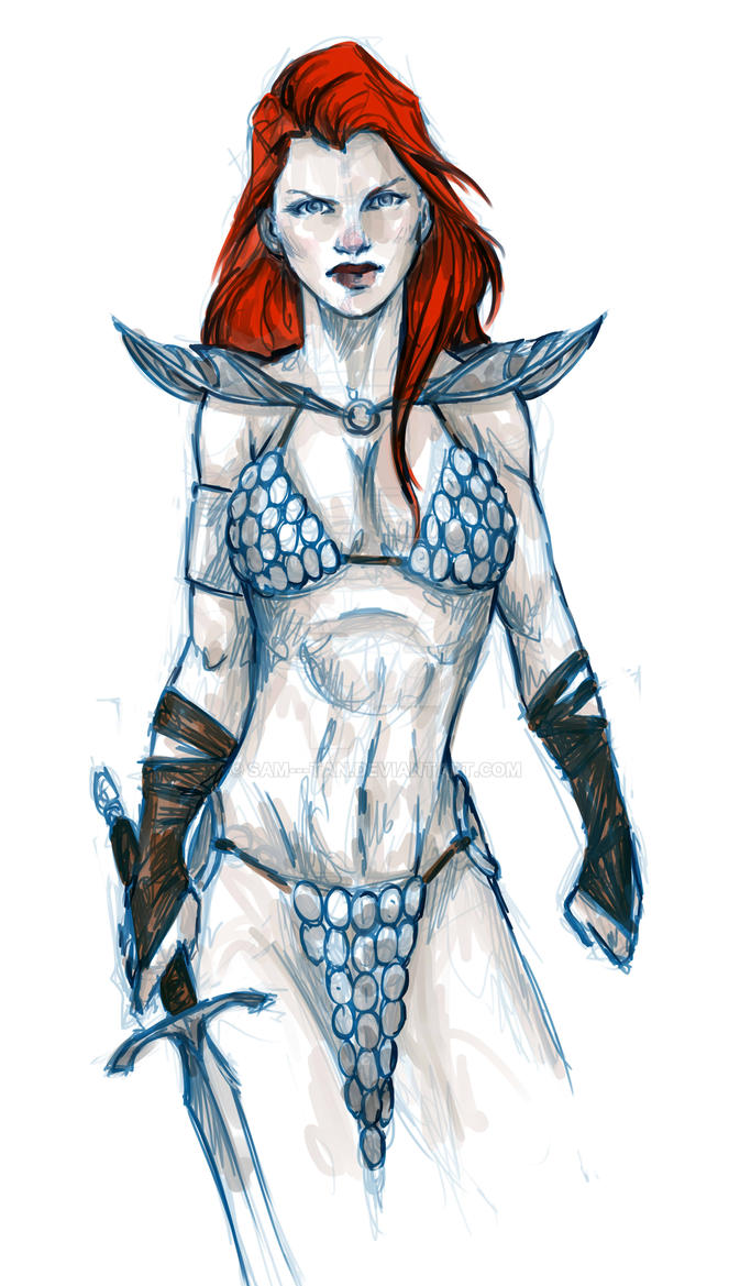 Red Sonja by SAM---tan