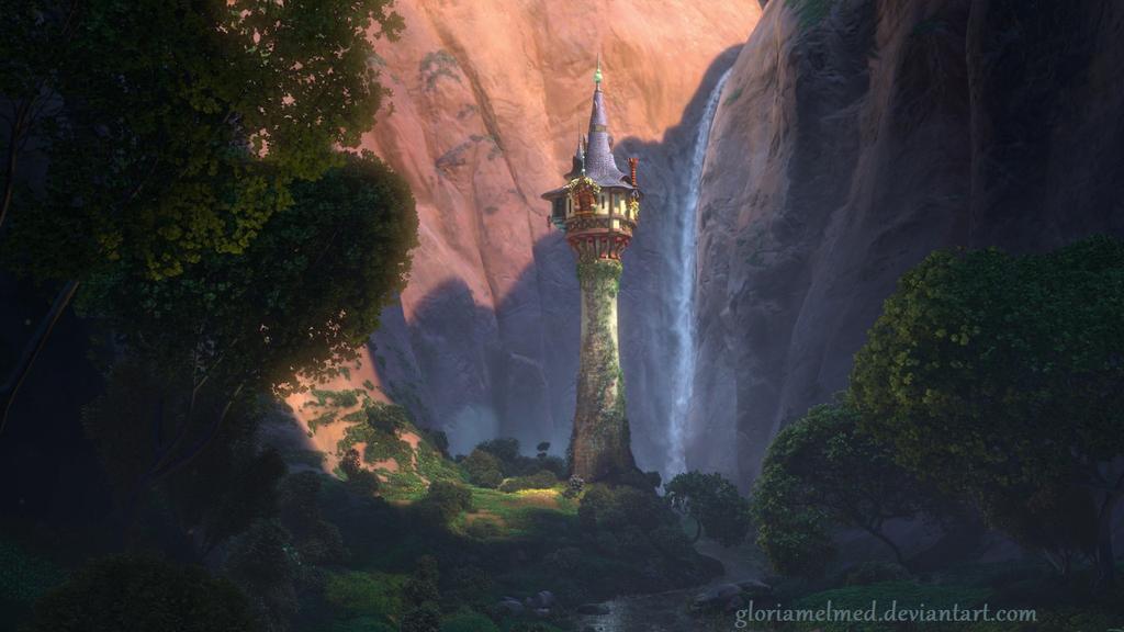 Rapunzel 39 s tower wallpaper by gloriamelmed on deviantart - Tangled tower wallpaper ...