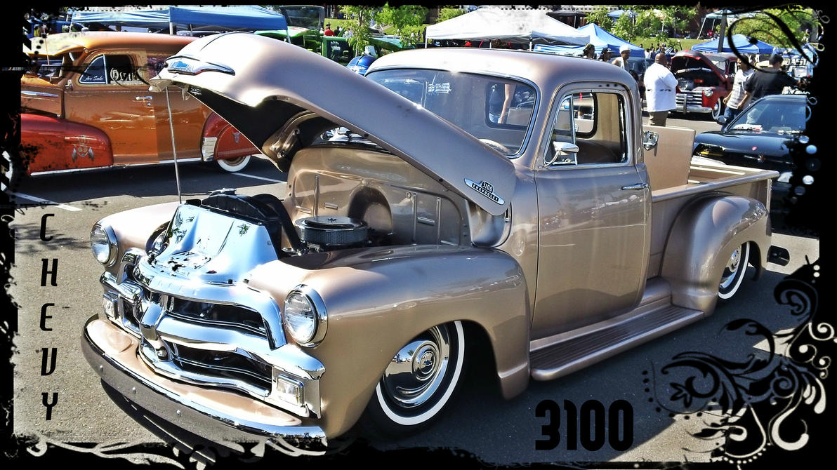 Chevrolet 3100 Lowrider Bomb Truck by anrandapLowrider Chevy Truck Drawings