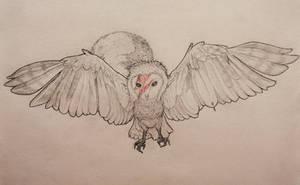 Drawlloween 2018 Day 3: Bowie inspired Night Owl