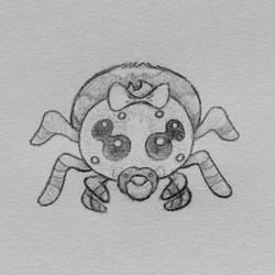Drawlloween 2018 Day 9: Spider Baby