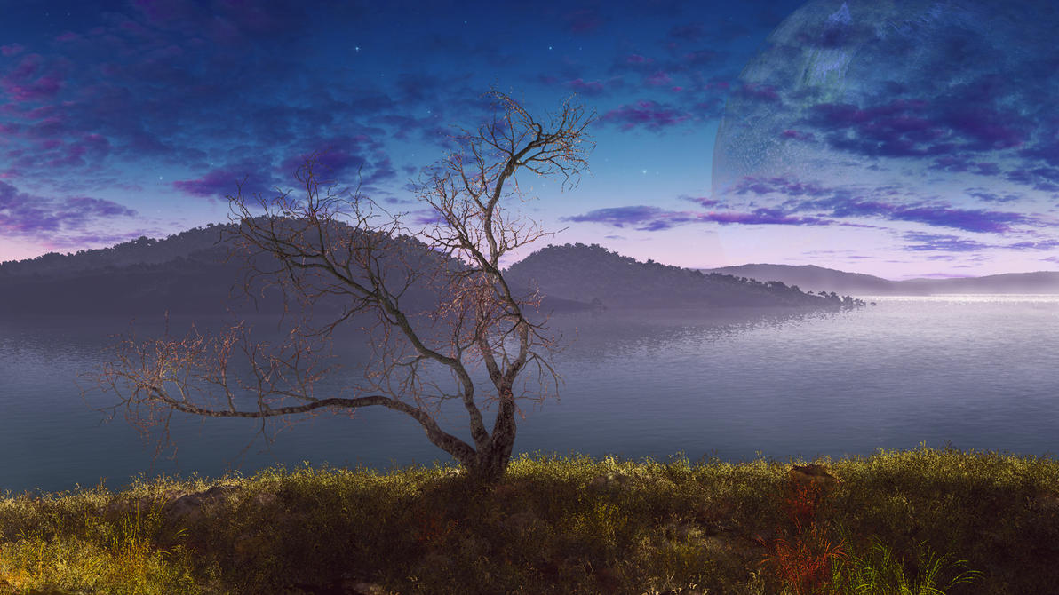 Dusk On The Hills by esk6a