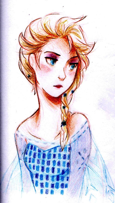 Frozen Doodle - Elsa by animephreak143