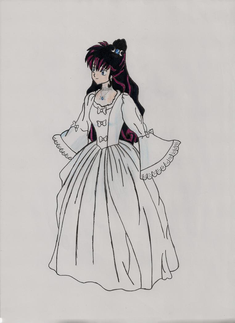 Drawings - Kagome's wedding dress by ARazvan on DeviantArt