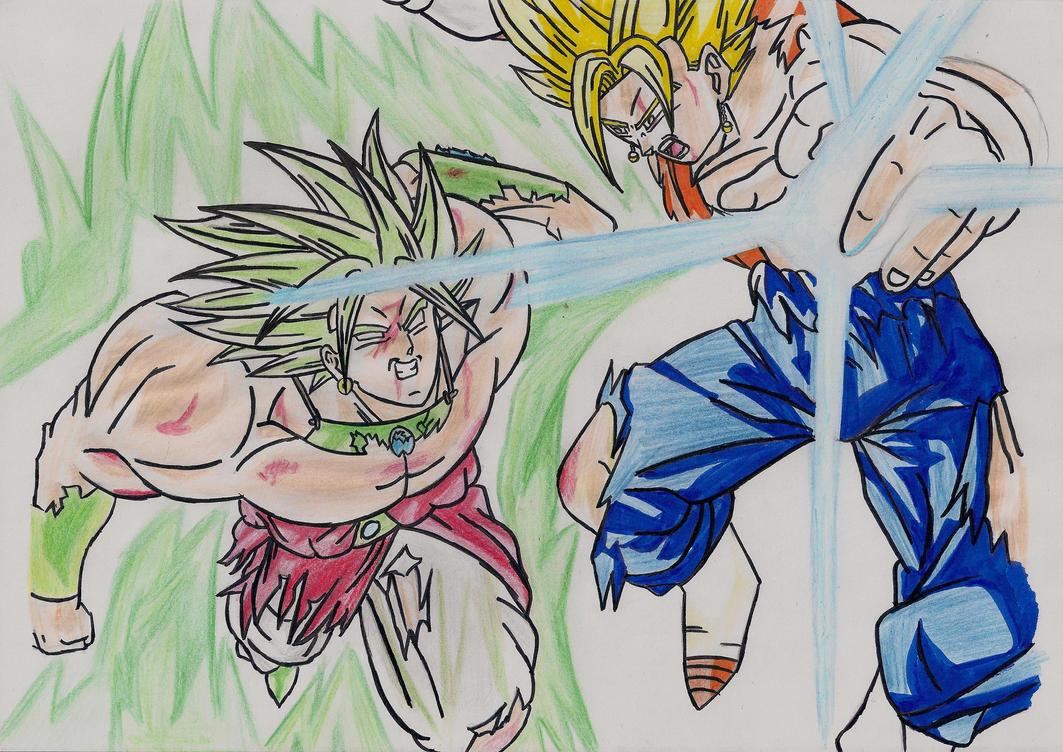 Drawings - Broly vs Vegito SSJ by ARazvan on deviantART
