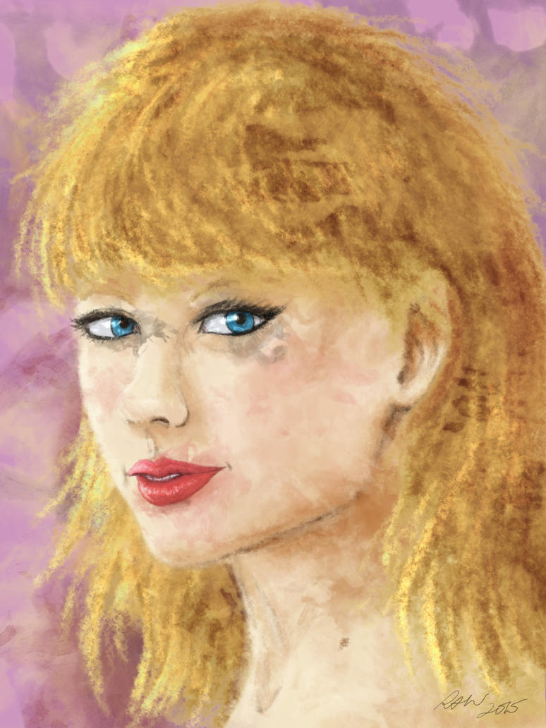 Taylor Swift Watercolor Portrait by ArtmasterRich