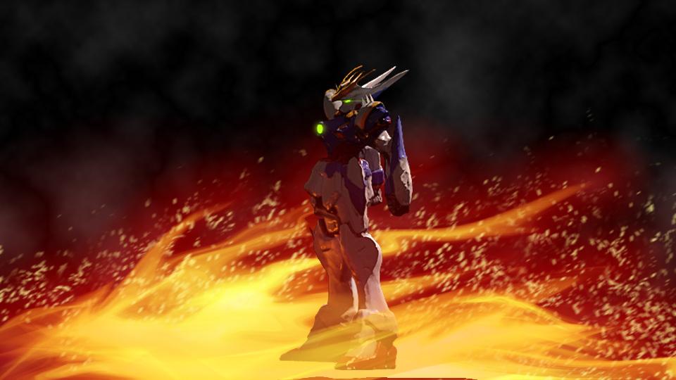 Flamin' Gundam by ArtmasterRich