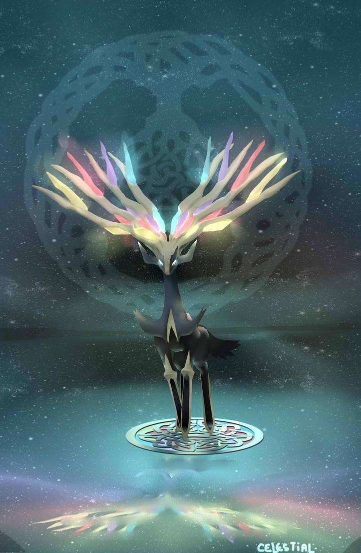 Xerneas The Yggdrasil Guardian by celestial080 on DeviantArt