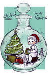 Christmas in a bottle (YCH OPEN!)