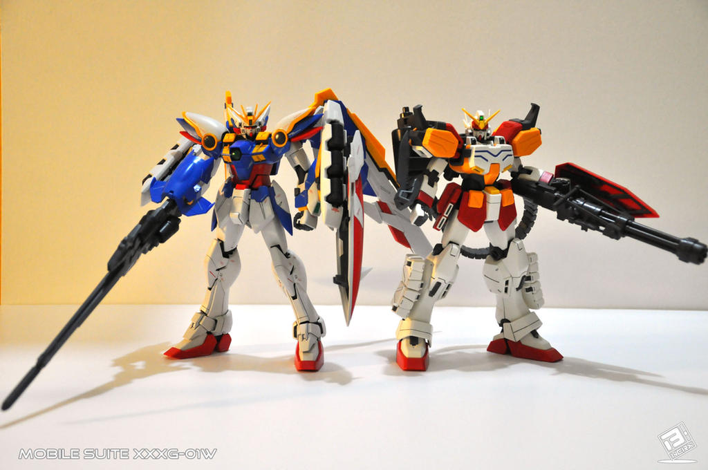 EW Wing Gundam and Heavyarms Gundam by B-Werx