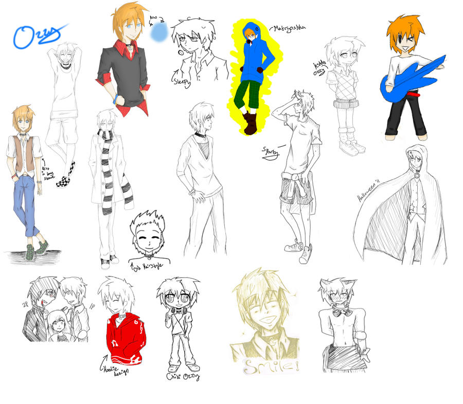 Ozzy Sketch dump by EllenorMererid