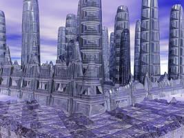 Futuristic cityscape by Minia4