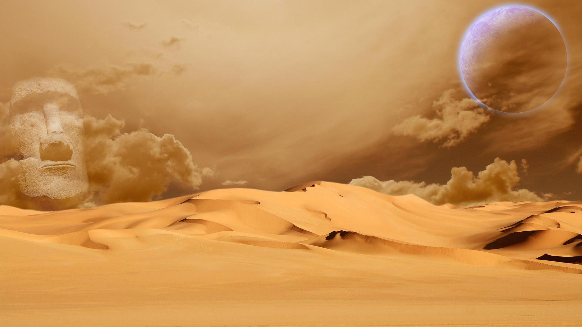 Alien desert by Pinneis