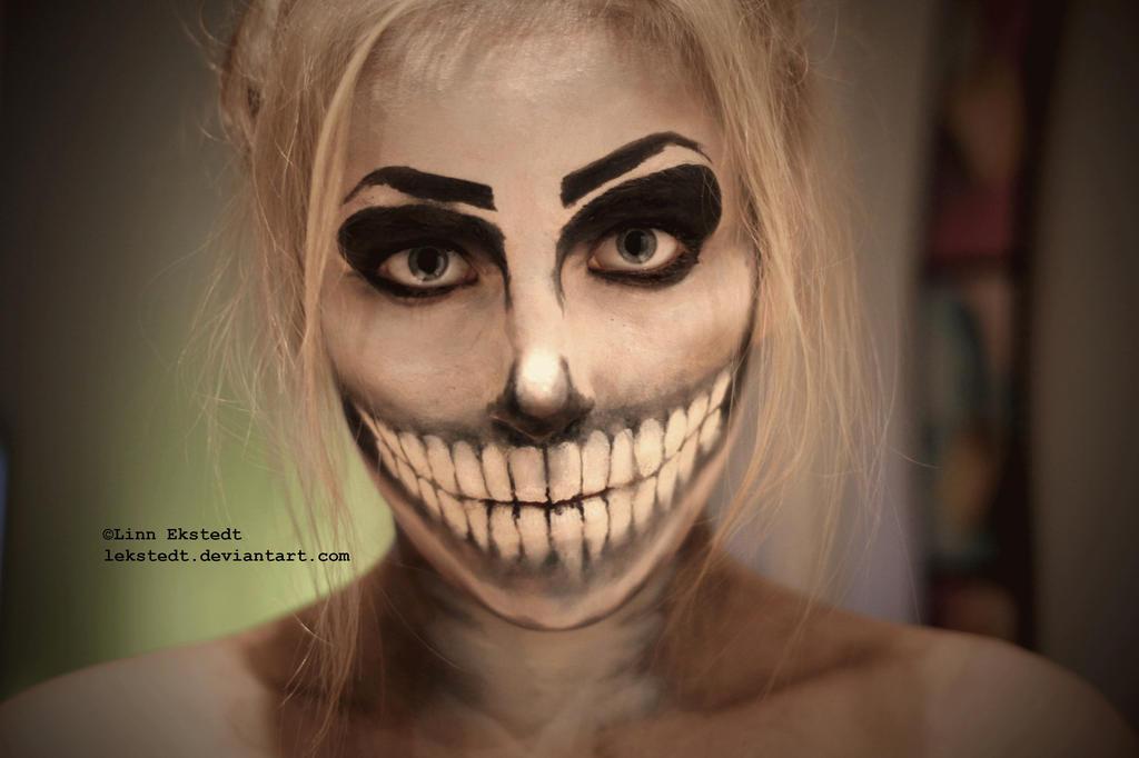 Skeleton Makeup by Lekstedt on DeviantArt - Simple Skeleton Halloween Makeup