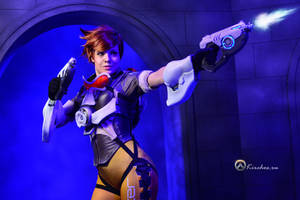 ComicConRussia - Overwatch Tracer by Kirchos
