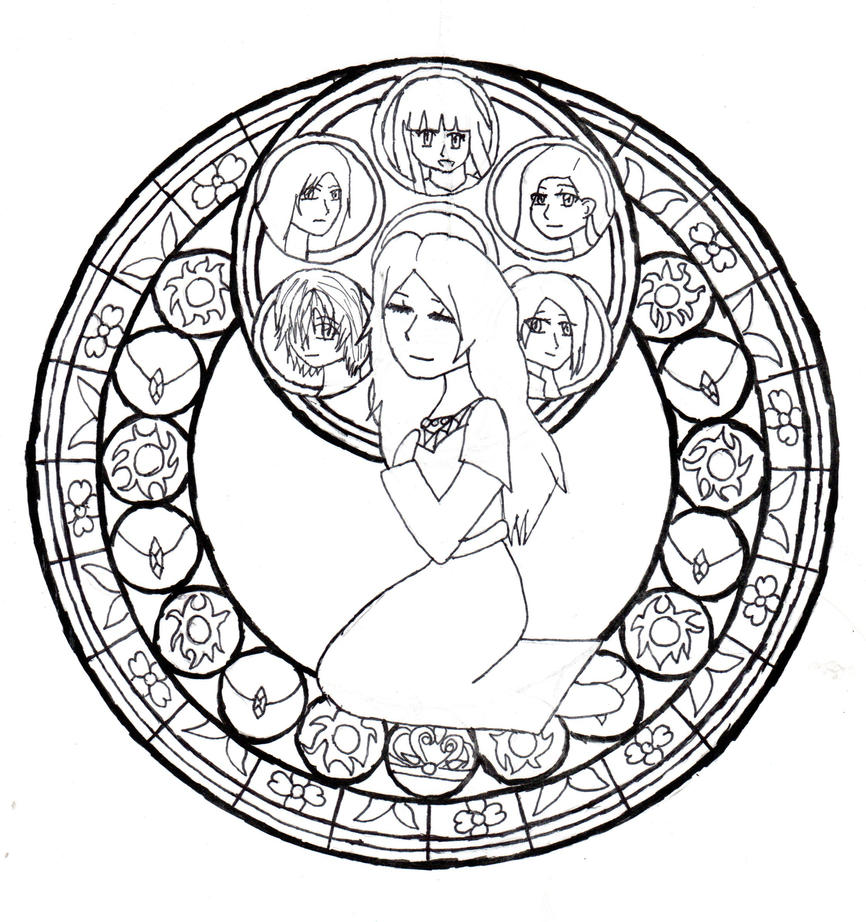 amazing kingdom hearts coloring pages stained glass sora ideas