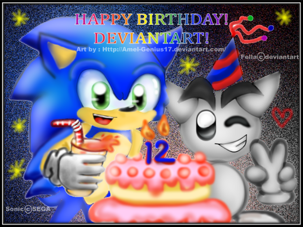 Happy Birthday Deviantart By Amel Genius17 On Deviantart