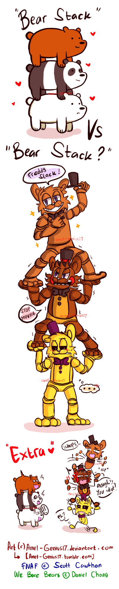 =FNAF/WBB= Bear Stack vs Bear stack?!! (doodle) by Amel-Genius17