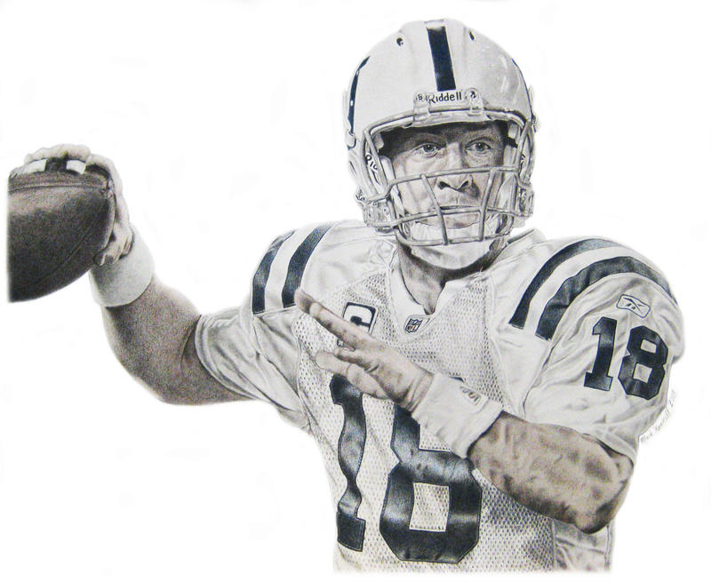 It is a graphic of Epic Peyton Manning Drawing