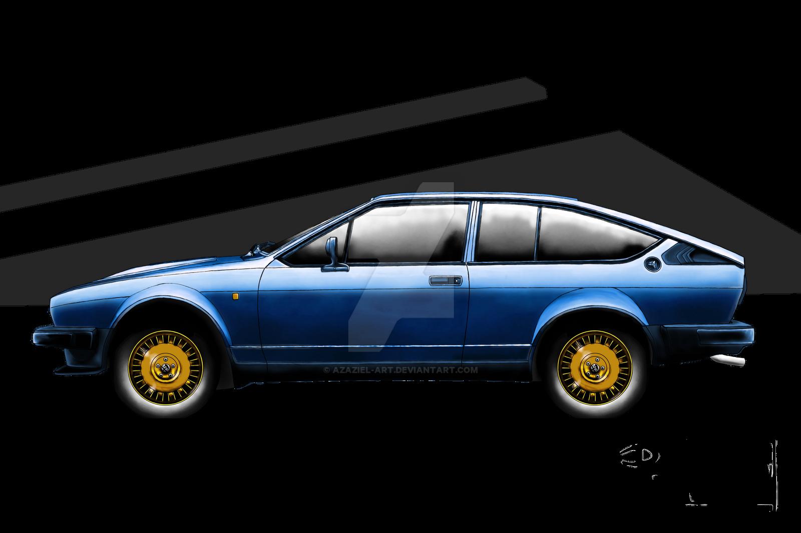 Alfa Romeo Alfetta Gtv V6 Blue Competition By Azaziel