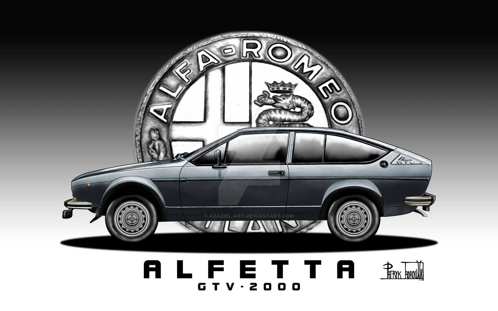 Alfa Romeo Alfetta Coupe By Azaziel Art On Deviantart