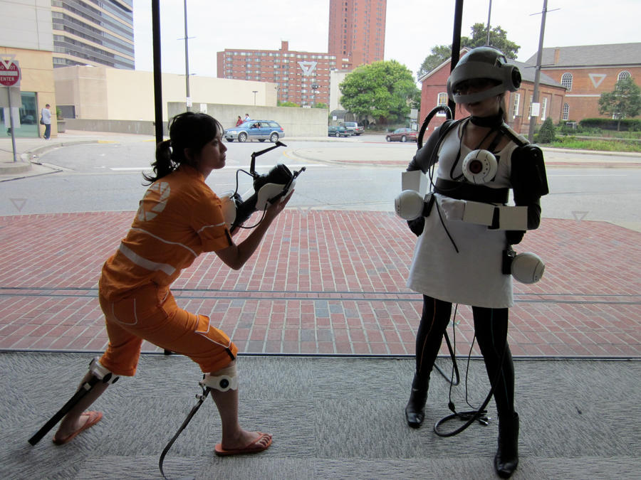Portal Cosplay - Face Off by marimbamonkey14