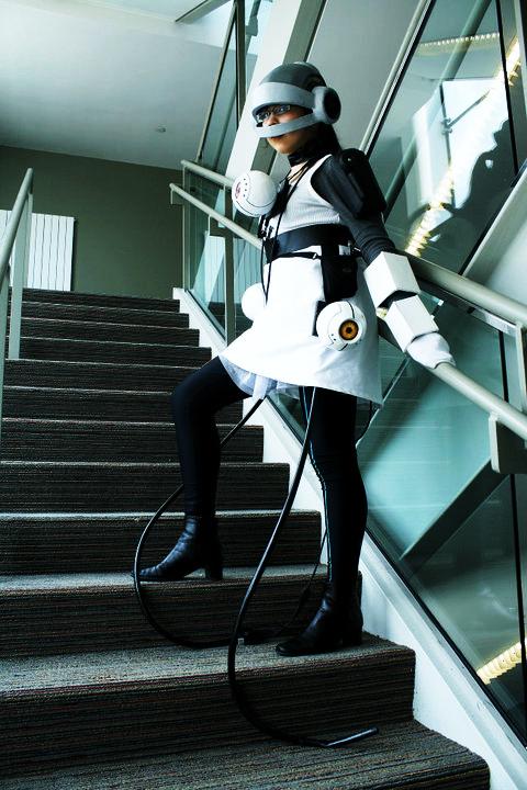 Portal cosplay: GLaDOS by marimbamonkey14