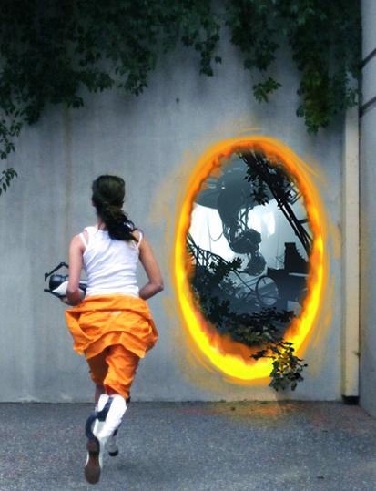 Portal 2 Cosplay: Chell by marimbamonkey14