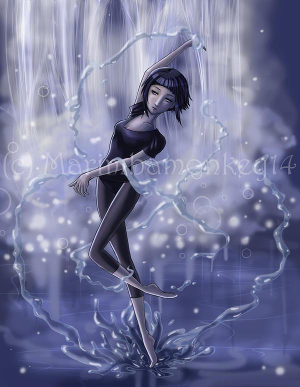 Hinata's water dance by marimbamonkey14