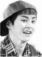 EXO's Xiumin in a Cap by MidnightRamenAttack